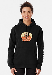 ladies black monkey hoodie