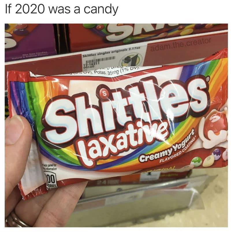 If 2020 were a candy meme