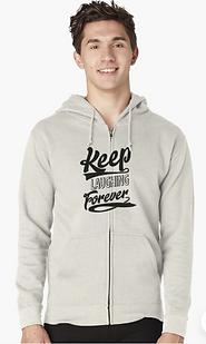 KeepLauging Forever Positiviy zipup hoodie