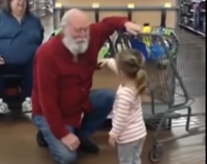 Adorable Young Girl Thinks Stranger With Beard Is Santa
