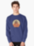 Mens blue monkey sweatshirt