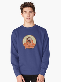 Mens blue monkey sweatshirt