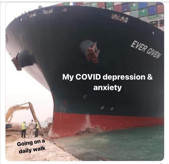 Suez Canal Covid Depression Meme