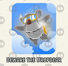 Dropbear t-shirt design