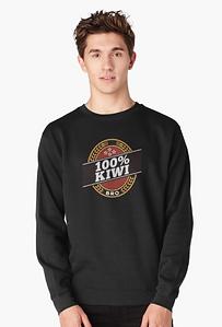 100% kiwi sweatshirt
