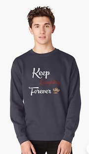 Sweatshirt Keep Laughing Forever monkey