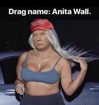 Trump In Drag - Anita Wall