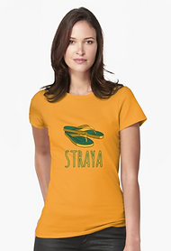 Ladies fitted straya thongs t-shirt