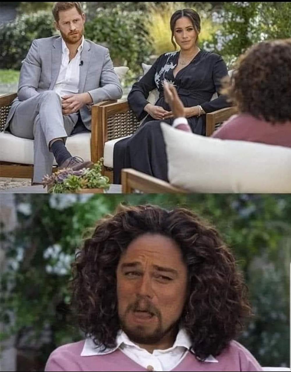Harry Meghan Oprah and Leonardo Meme