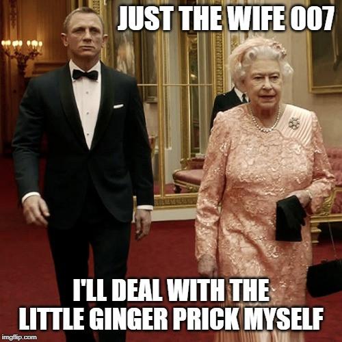 James Bond and Harry Meghan Markle meme
