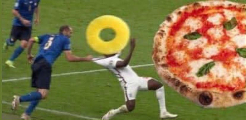 England Pineapple on Pizza Euro Football meme