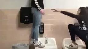 Girl Stands On Sink... It Breaks