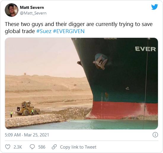 Suez canal 2 guys and digger meme