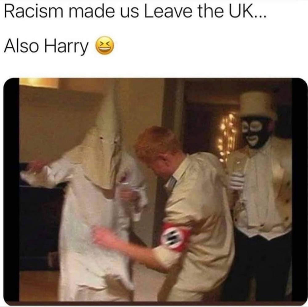 Racist Harry Dressed As Nazi Meme