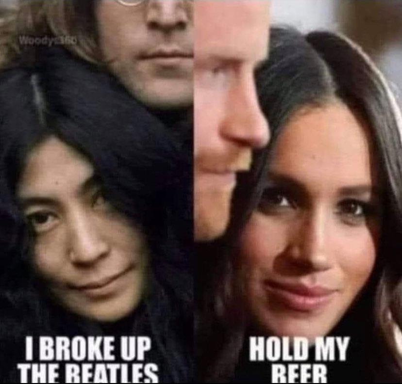 Yoko Ono Meghan Markle Meme