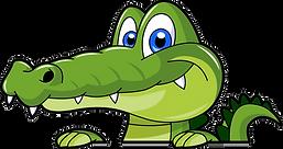 Smiling Cartoon Crocodile