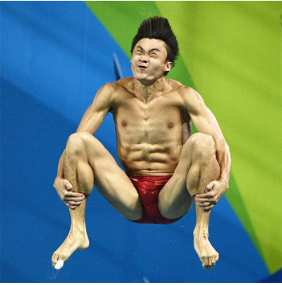 Hilarious photo of olympic diver
