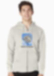 Mens zipup dropbear hoodie