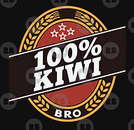 100% kiwi double brown t-shirt design