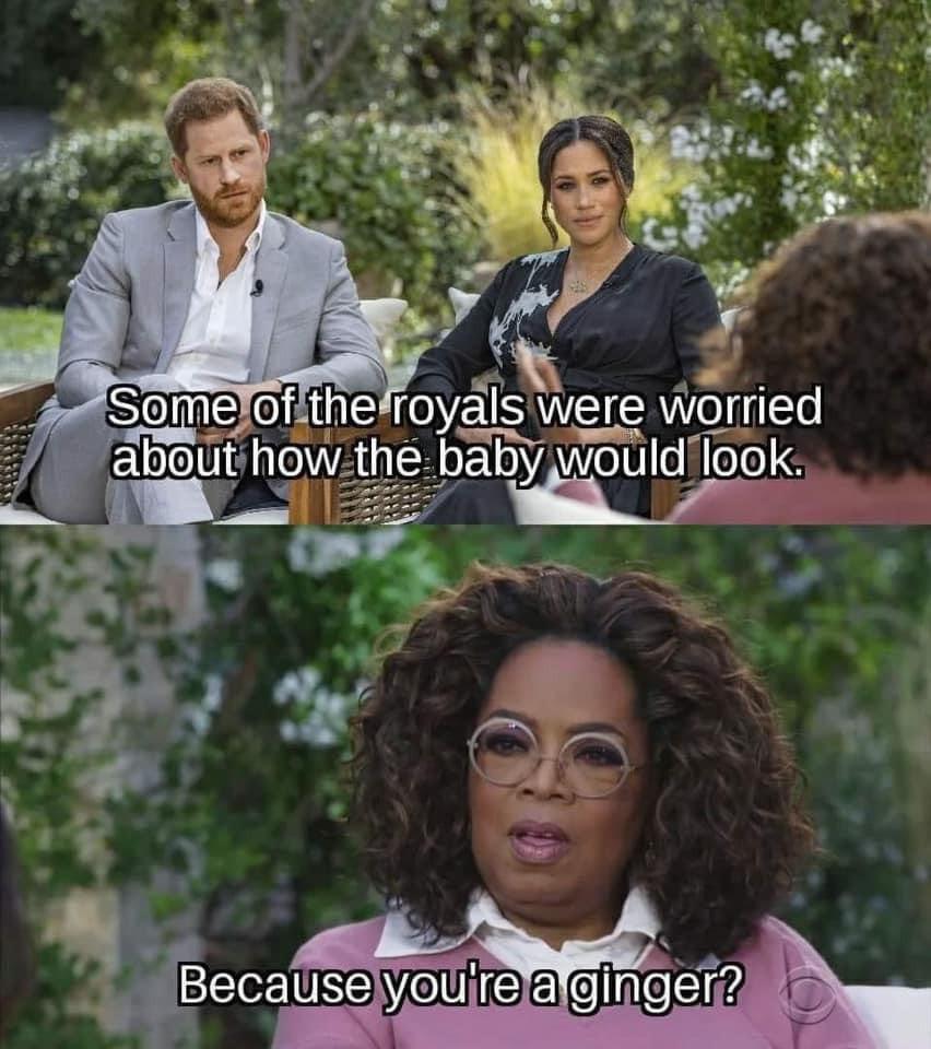 Ginger Baby Oprah Interview Meme