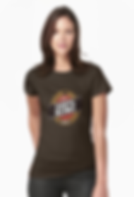 Ladies fitted 100% kiwi double brown t-shirt
