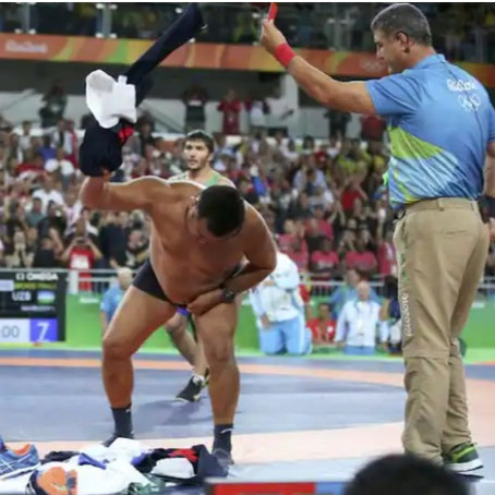 Olympic Wrestling Coaches That Stripped Down To Their Undies