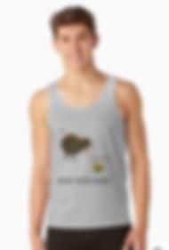 Mens kiwi and kiwifruit design tanktop singlet