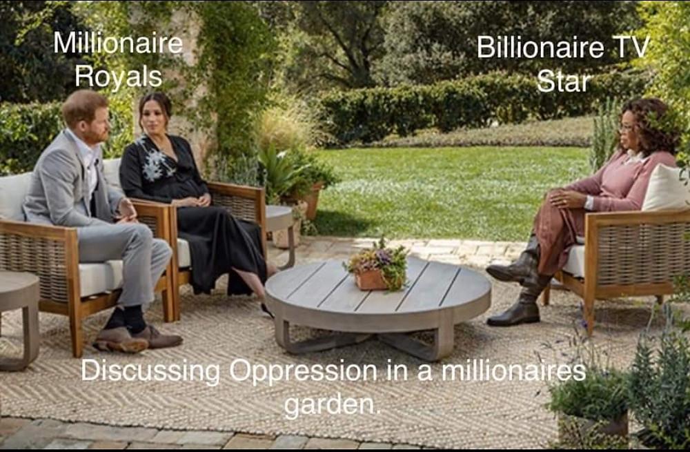 Harry and Meghan Oprah Money Meme