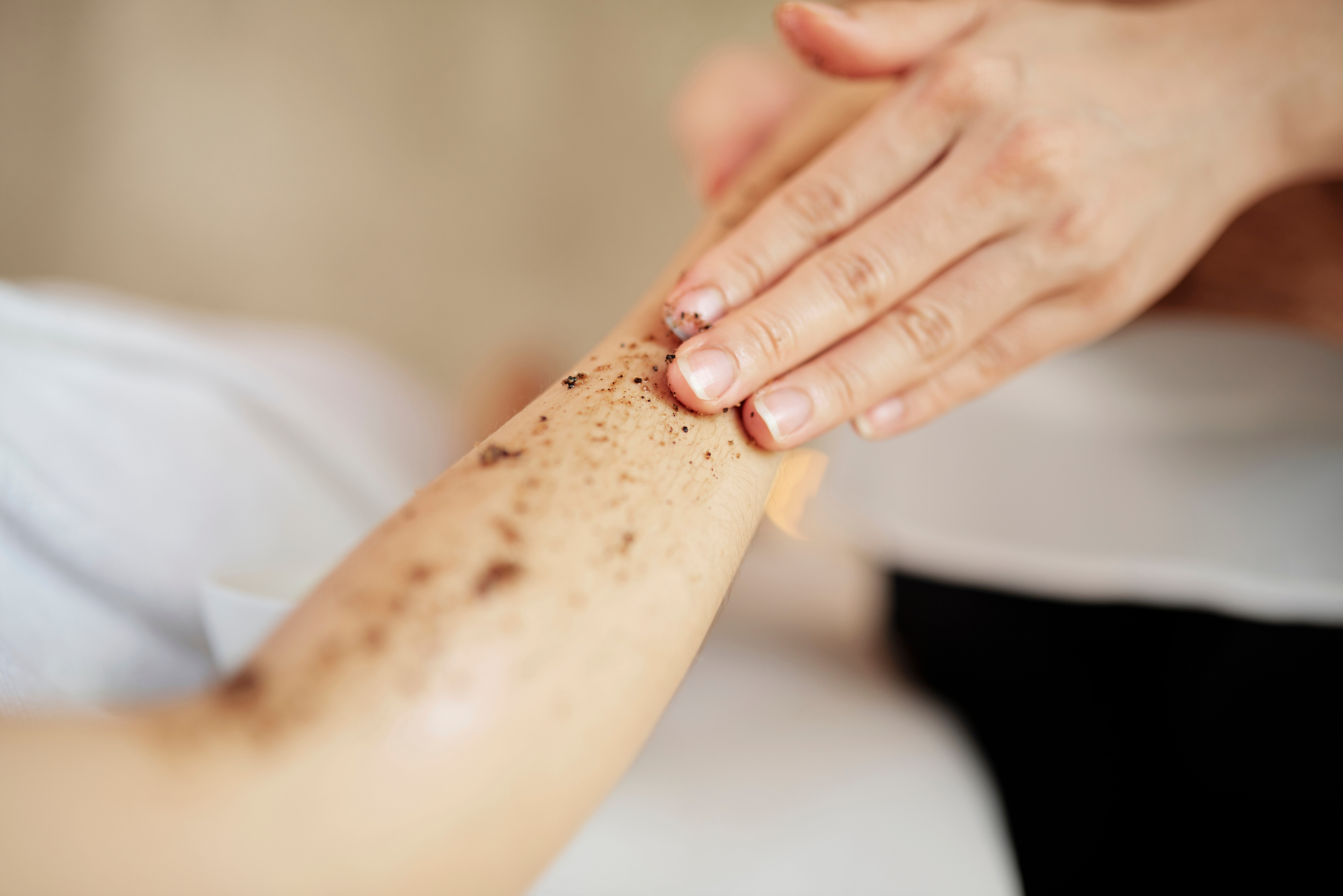 Hand and Arm Exfoliating treatment