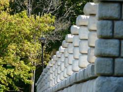 Gravity-Cobblestone-retaining-walls-columns-landscaping-for-VT-economic-development-min