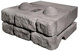 Блок гравитационной подпорной стены