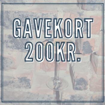 Gavekort 200kr.