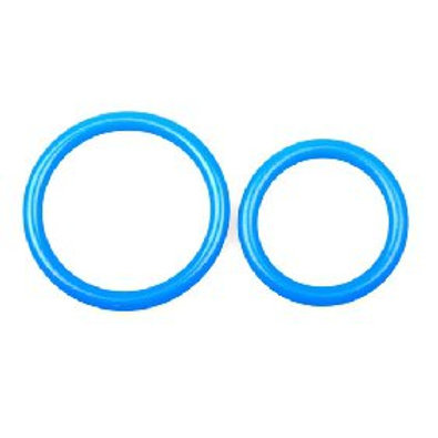 Blue Silicone Dual Ring