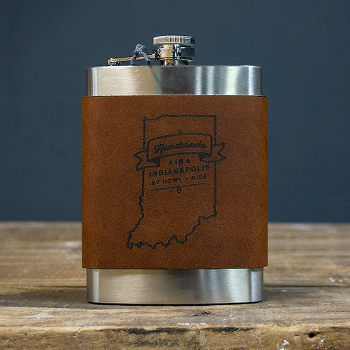 Howl + Hide Leather Flask