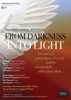 Salford Choral Concert Purcell Bach Lauridsen Duruflé