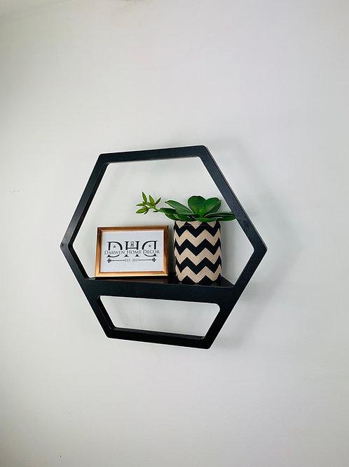 Hexagon Shelf - Black