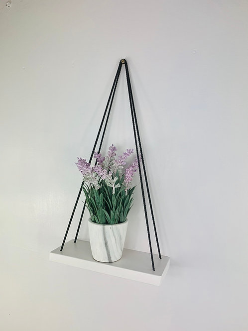 Single Tier Hanging Shelf - White