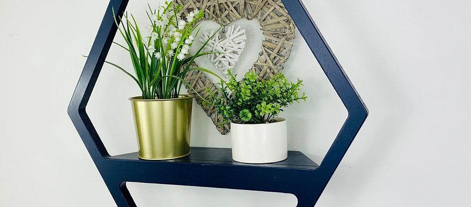 Hexagon Shelf - Dark Blue