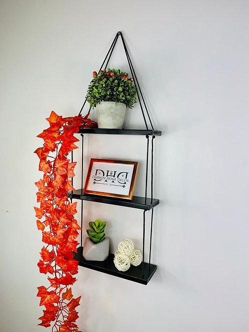 3 Tier Hanging Shelf - Black