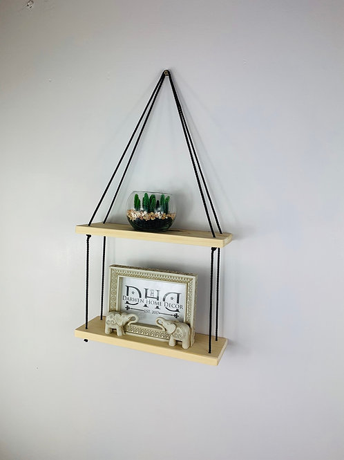 2 Tier Hanging Shelf - Natural