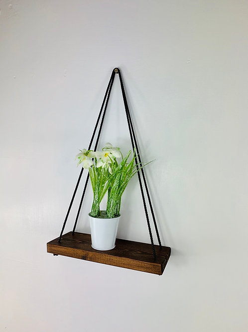 Single Tier Hanging Shelf - Dark Oak