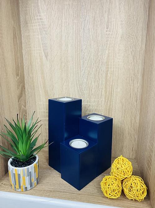 Tea Light Holders (Set) - Dark Blue