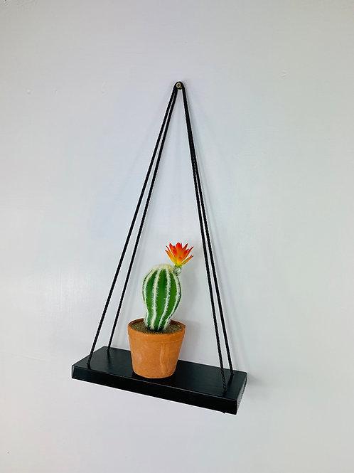 Single Tier Hanging Shelf - Black