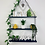 Thumbnail: Long 3 Tier Hanging Shelf - Dark Blue