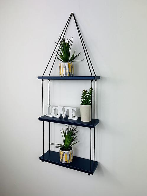 3 Tier Hanging Shelf - Dark Blue