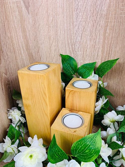 Candle Blocks (Set) - Light Oak