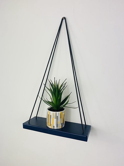 Single Tier Hanging Shelf - Dark Blue