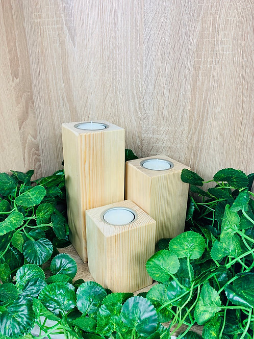 Tea Light Holders (Set) - Natural