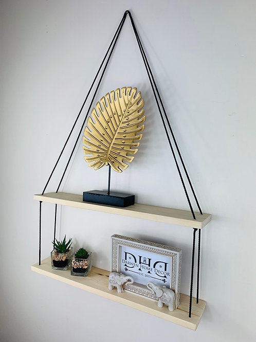 Long 2 Tier Hanging Shelf - Natural