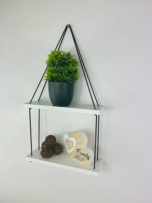 2 Tier Hanging Shelf - White